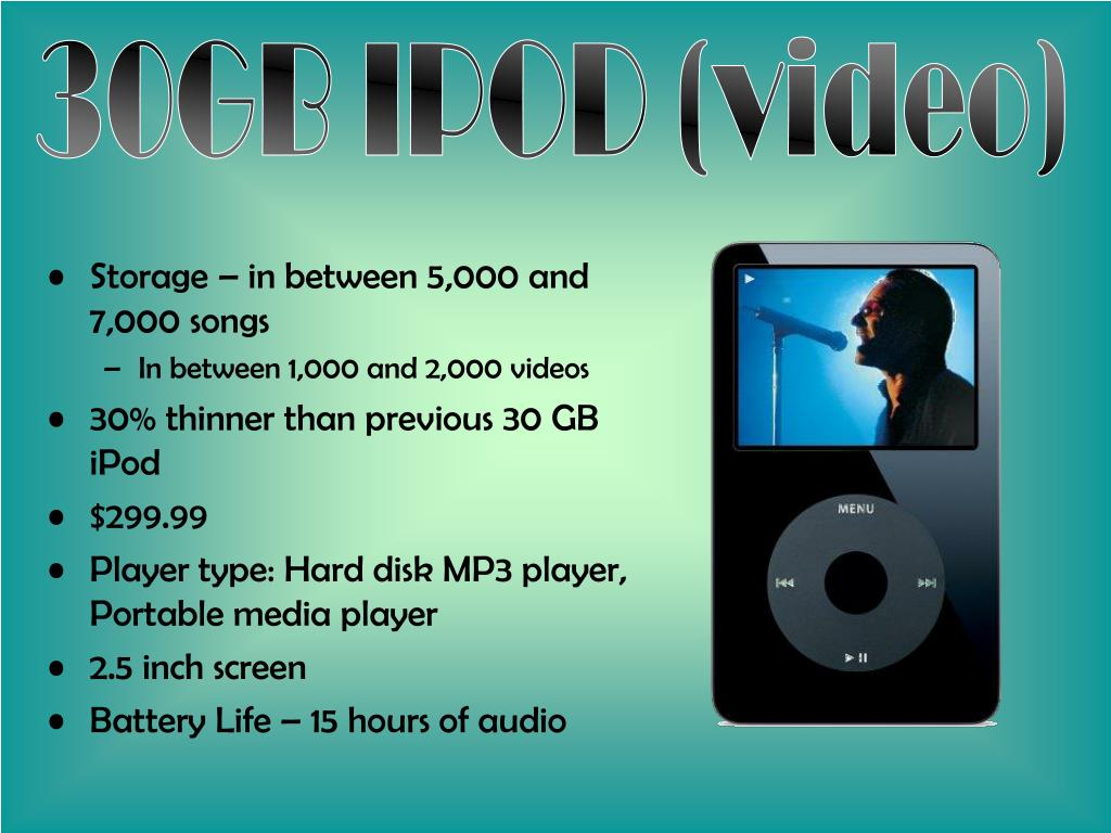 30GB IPOD (video)