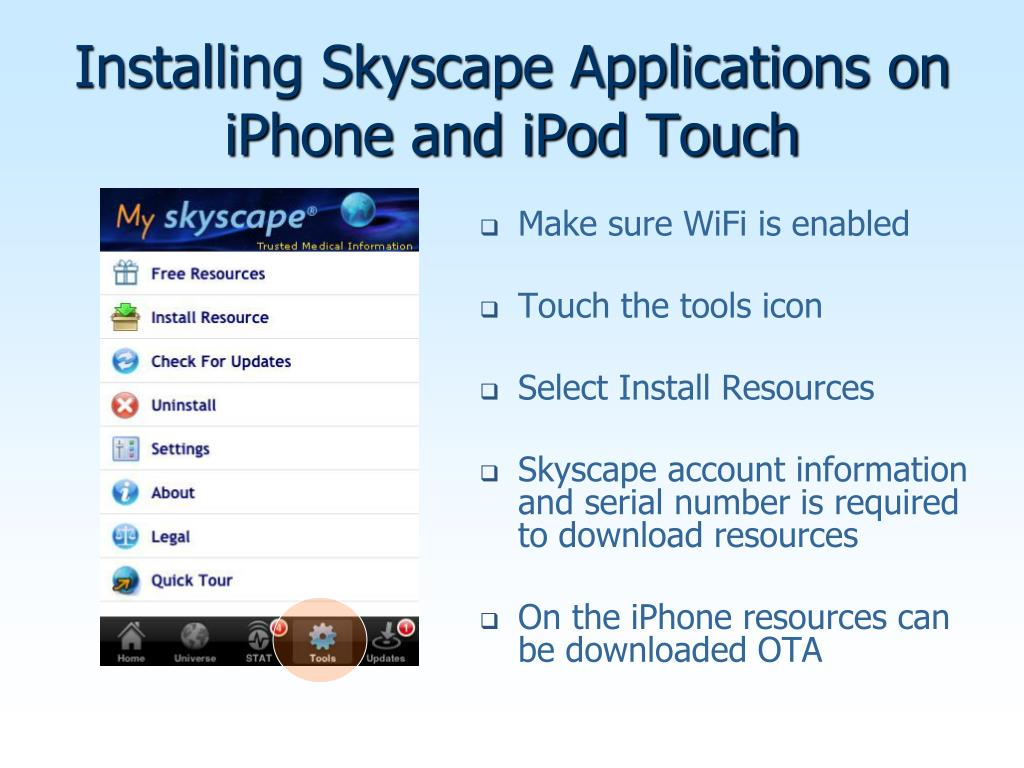 Installing Skyscape Applications on iPhone and iPod Touch