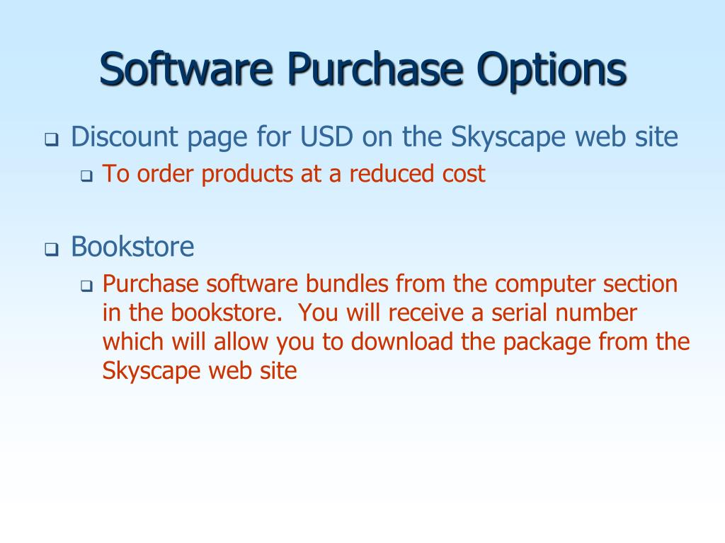 Software Purchase Options