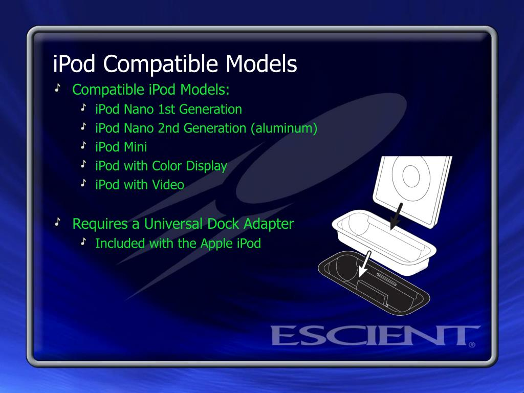 iPod Compatible Models