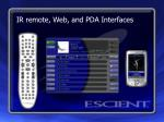 ir remote web and pda interfaces