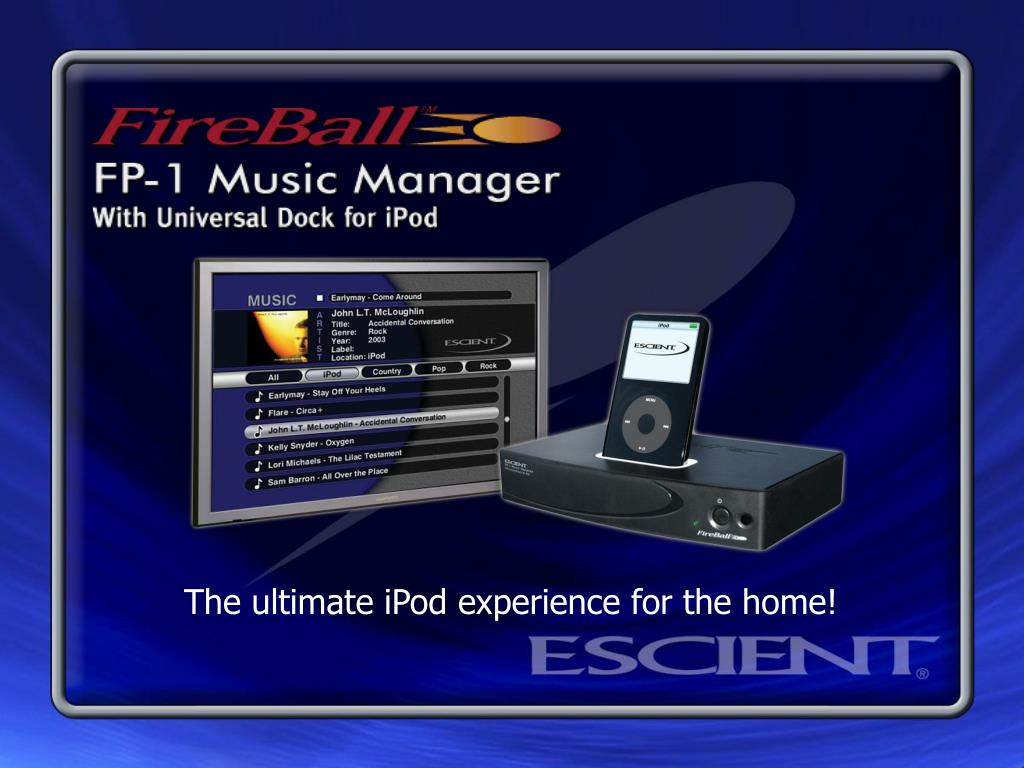 The ultimate iPod experience for the home!