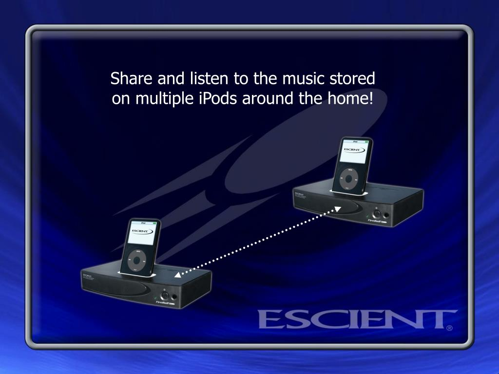 Share and listen to the music stored on multiple iPods around the home!