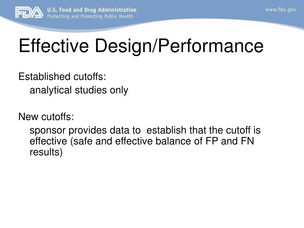 Effective Design/Performance