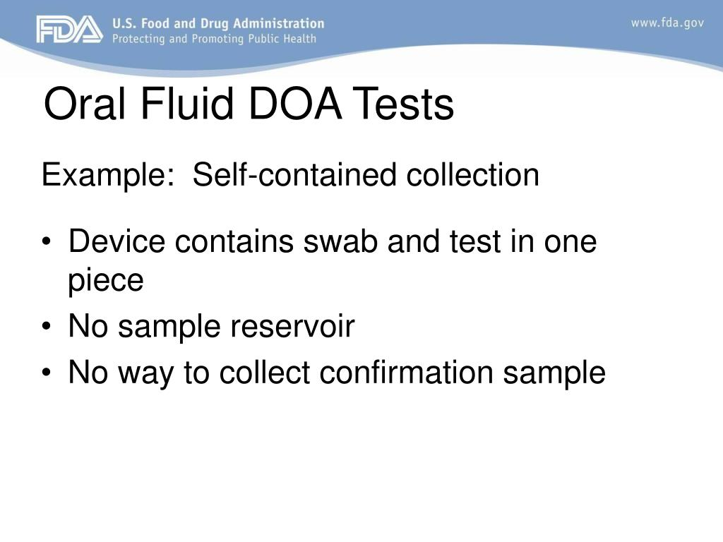 Oral Fluid DOA Tests