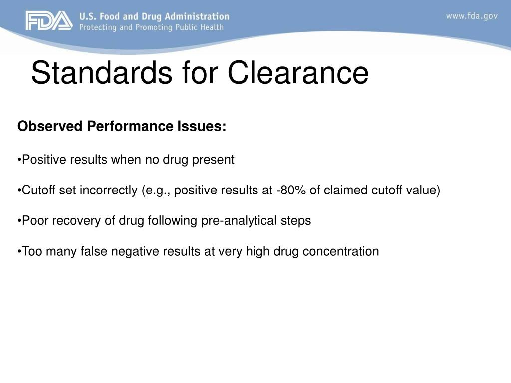 Standards for Clearance