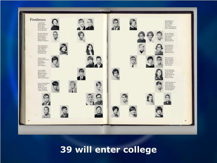 39 will enter college