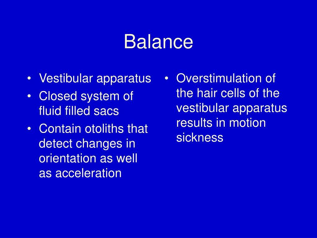 Vestibular apparatus
