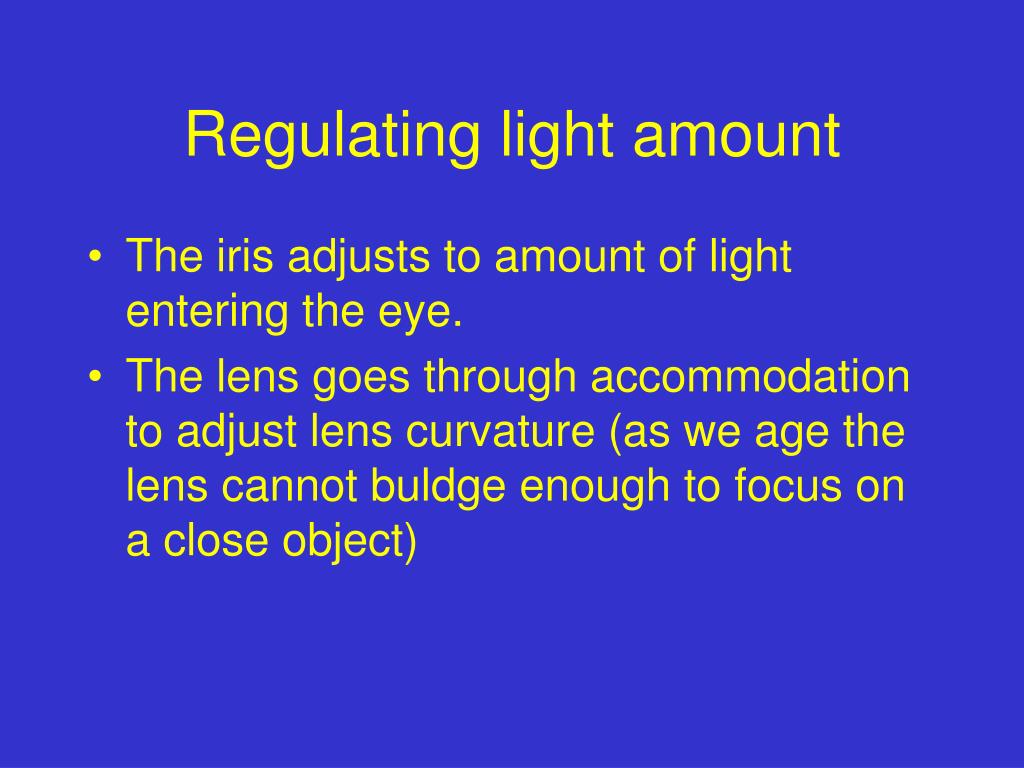 Regulating light amount