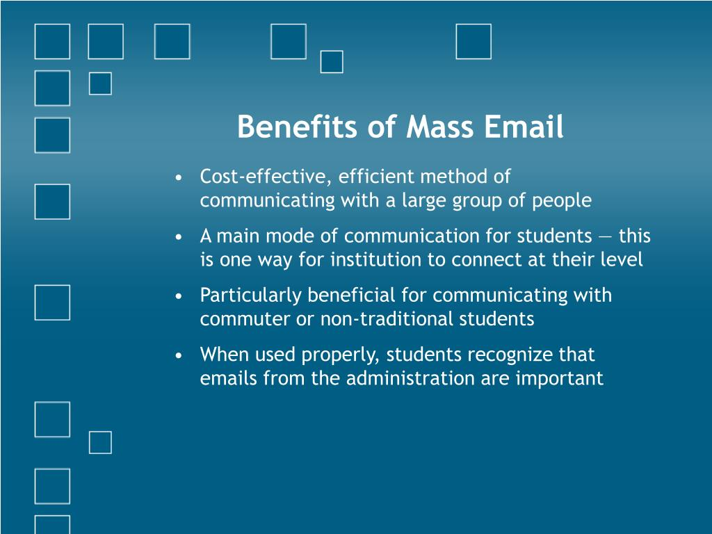 Benefits of Mass Email