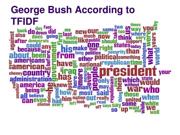 George Bush According to TFIDF