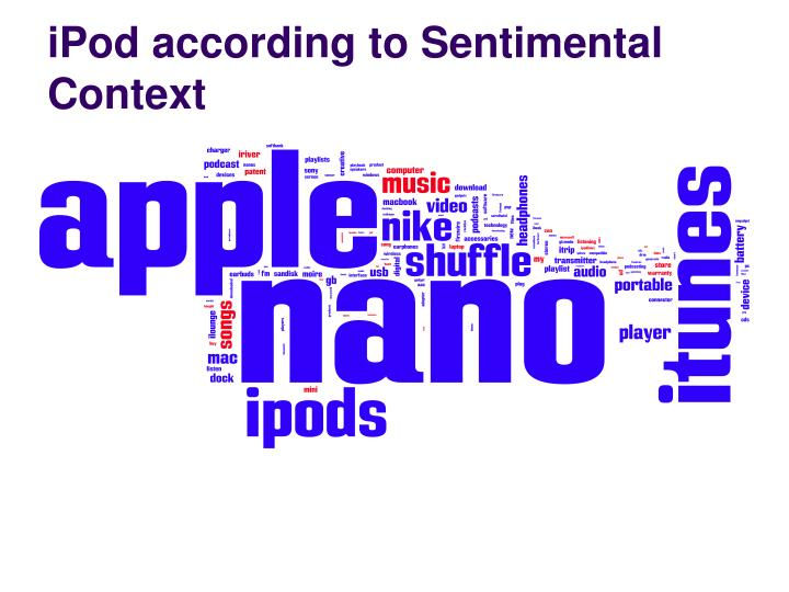 iPod according to Sentimental Context
