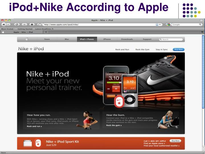 iPod+Nike According to Apple