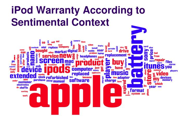 iPod Warranty According to Sentimental Context