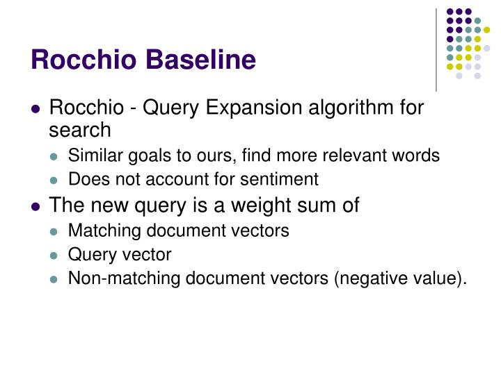 Rocchio Baseline