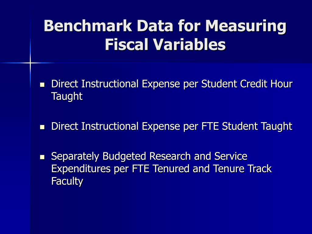 Benchmark Data for Measuring Fiscal Variables