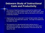 delaware study of instructional costs and productivity22