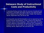 delaware study of instructional costs and productivity23