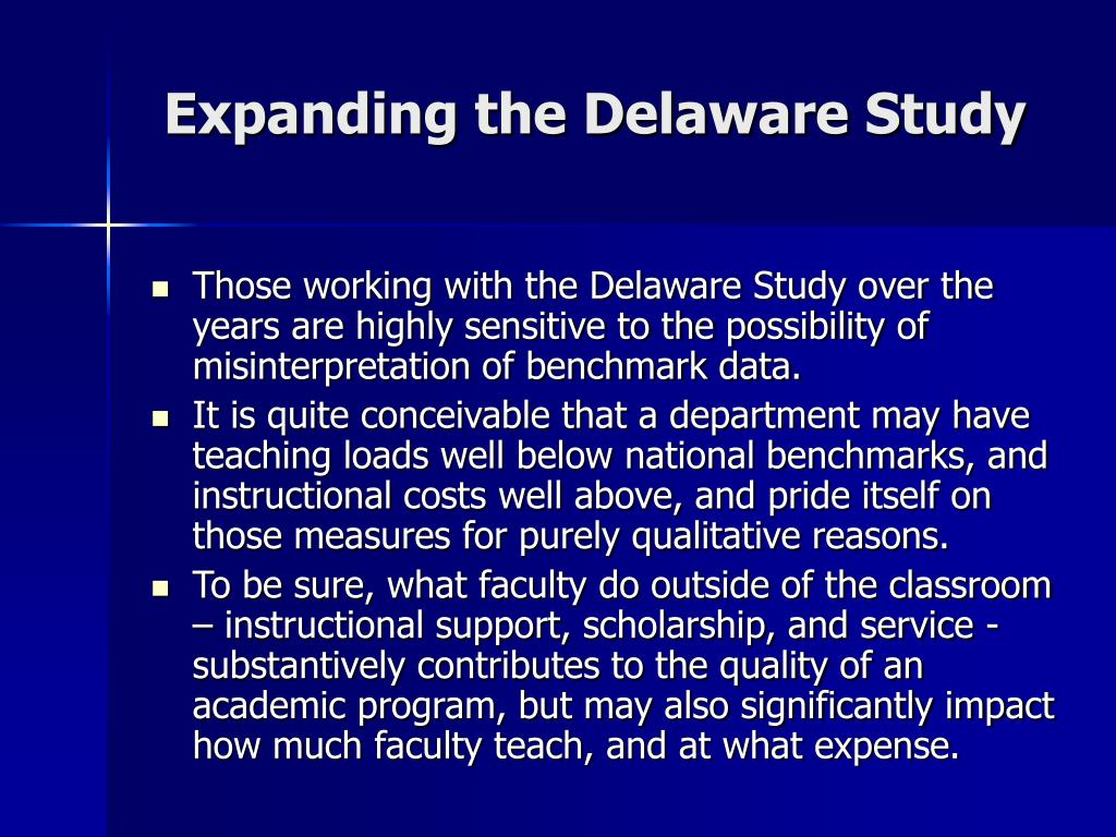 Expanding the Delaware Study