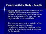 faculty activity study results