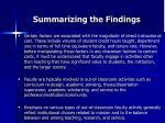 summarizing the findings