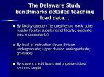 the delaware study benchmarks detailed teaching load data