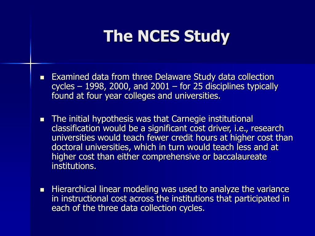 The NCES Study
