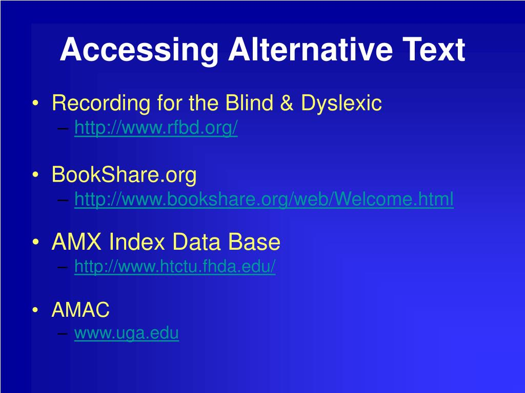 Accessing Alternative Text