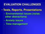 evaluation challenges27