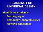 planning for universal design