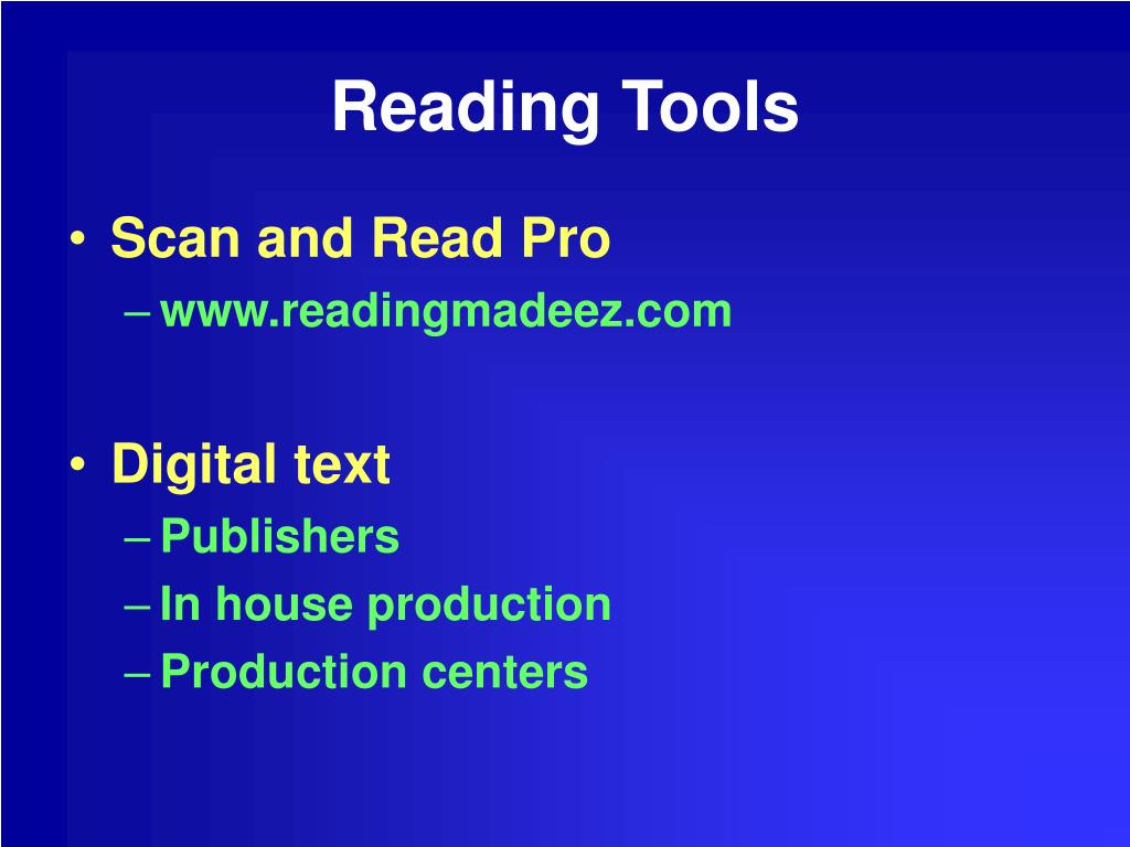 Reading Tools