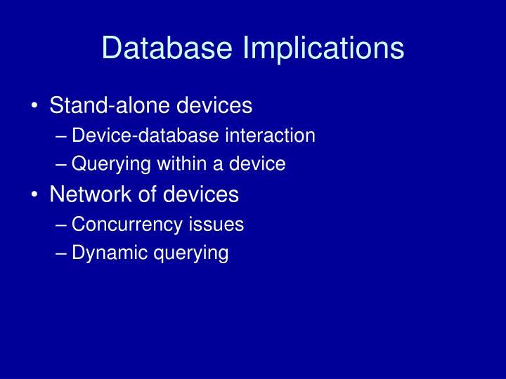 Database Implications