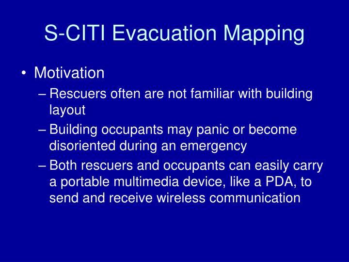 S-CITI Evacuation Mapping