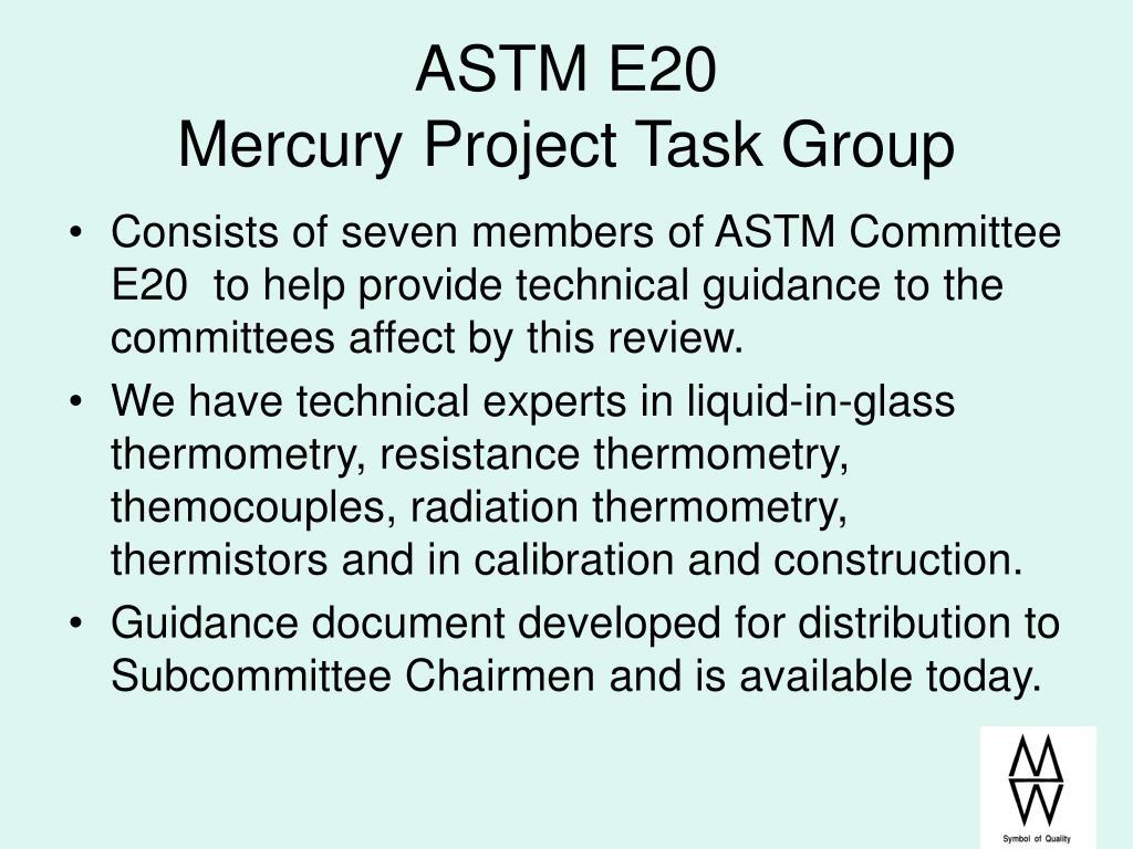 ASTM E20
