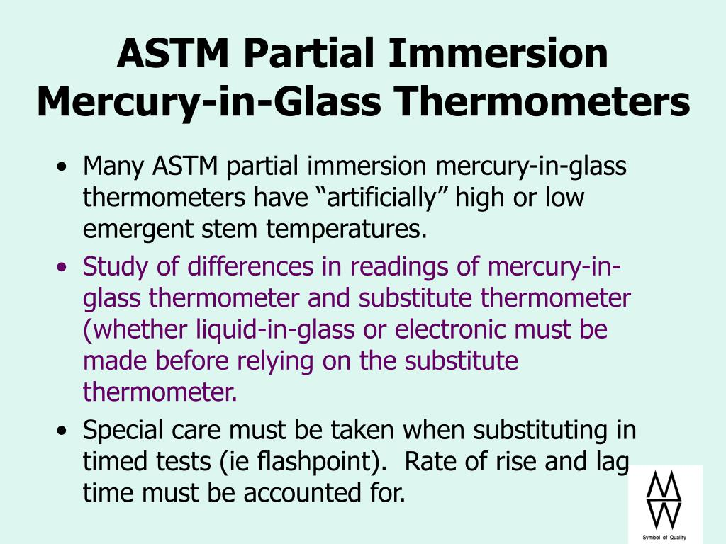 ASTM Partial Immersion