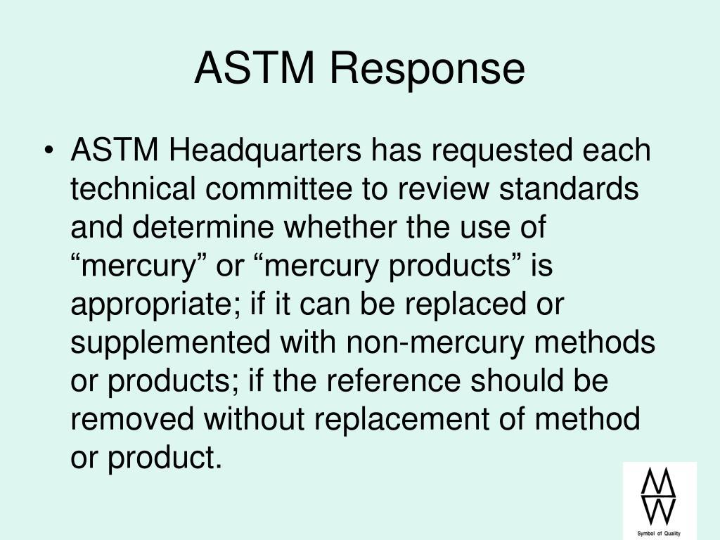 ASTM Response