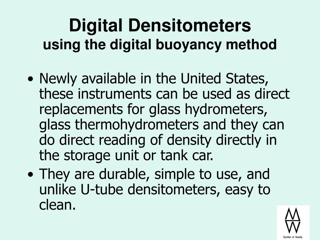 Digital Densitometers