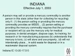 indiana effective july 1 2003