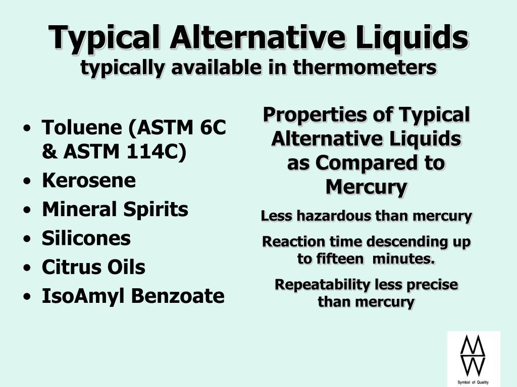 Typical Alternative Liquids