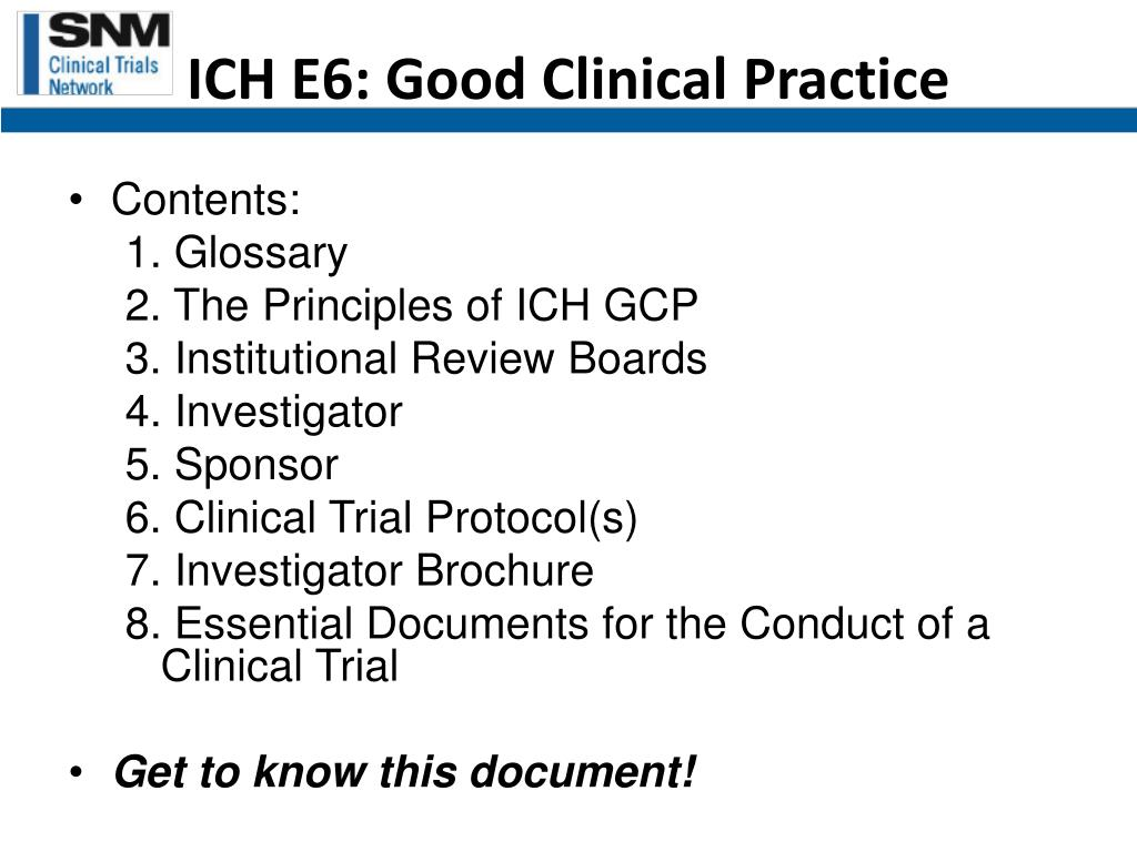guideline for good clinical practice Good clinical practice (gcp) is an international quality standard that is provided by ich, an international body that defines standards, which governments can transpose into regulations for clinical trials involving human subjects gcp enforces tight guidelines on ethical aspects of a clinical study.