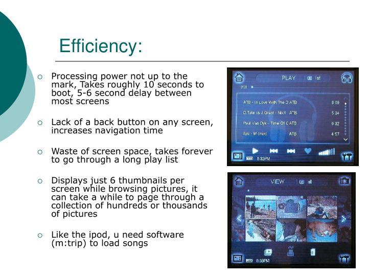 Efficiency: