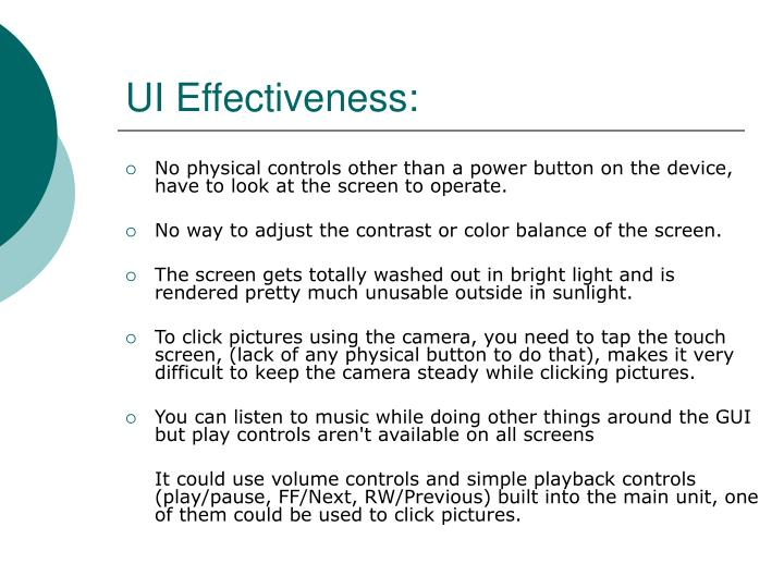 UI Effectiveness: