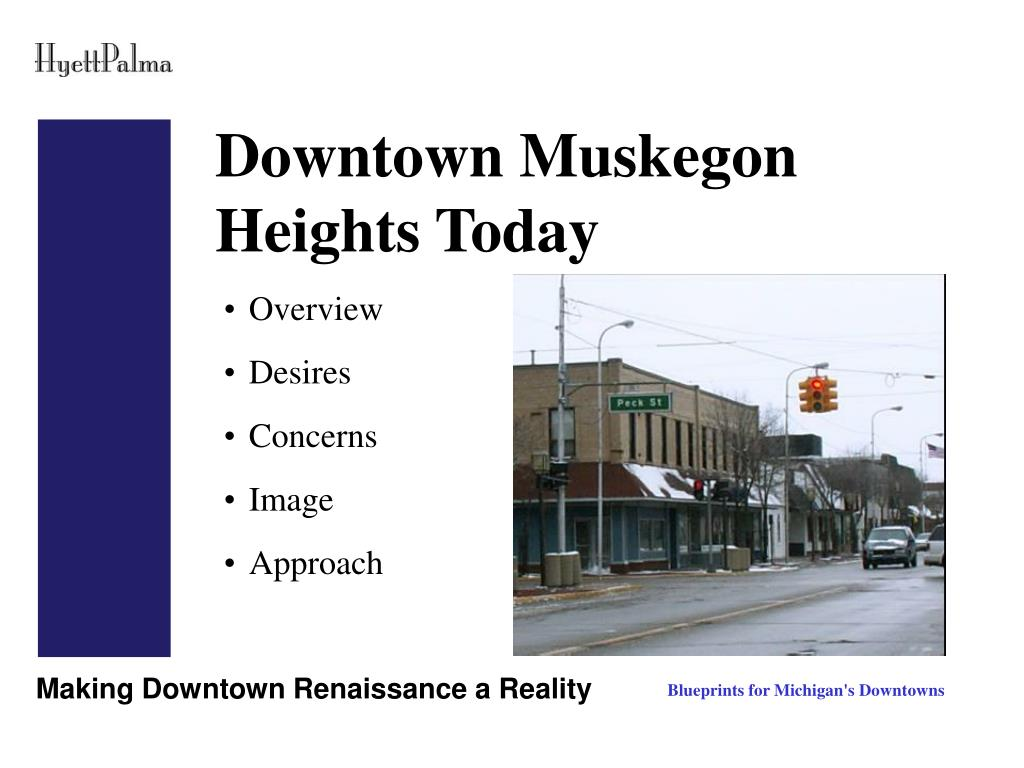 Downtown Muskegon Heights Today