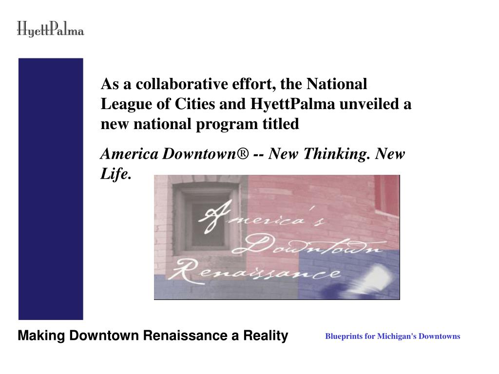 As a collaborative effort, the National League of Cities and HyettPalma unveiled a new national program titled