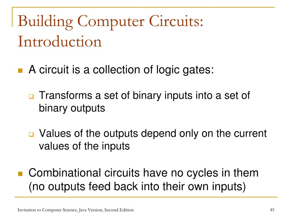 Building Computer Circuits: Introduction