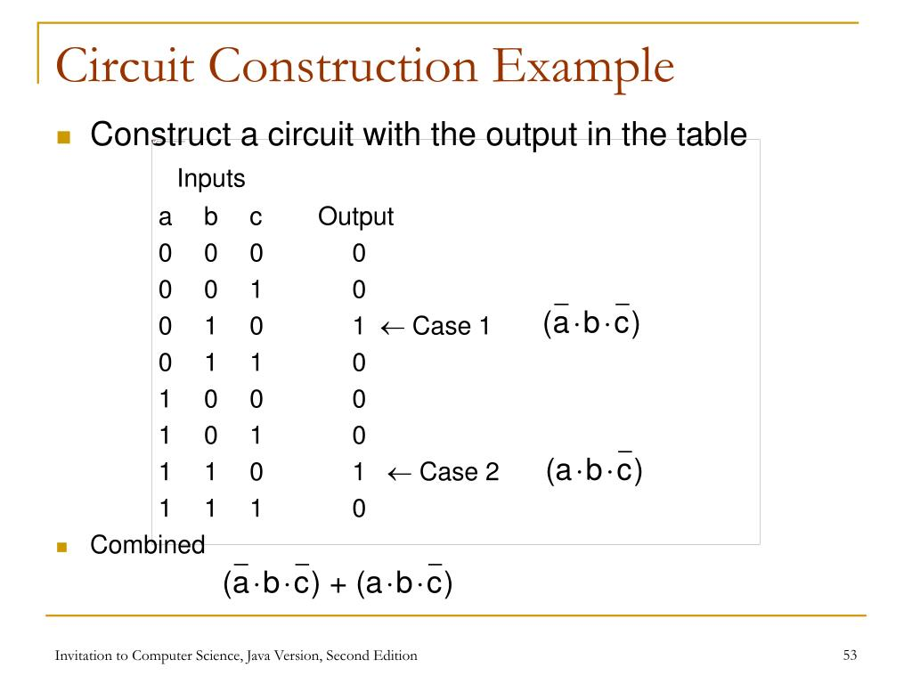 Circuit Construction Example