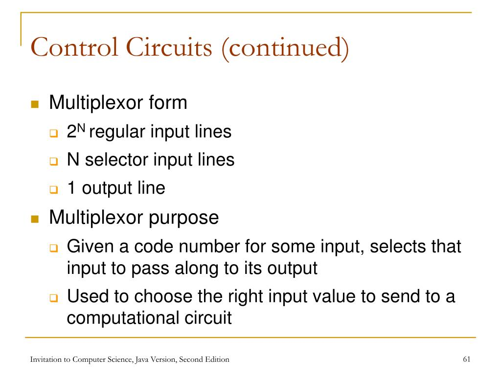 Control Circuits (continued)