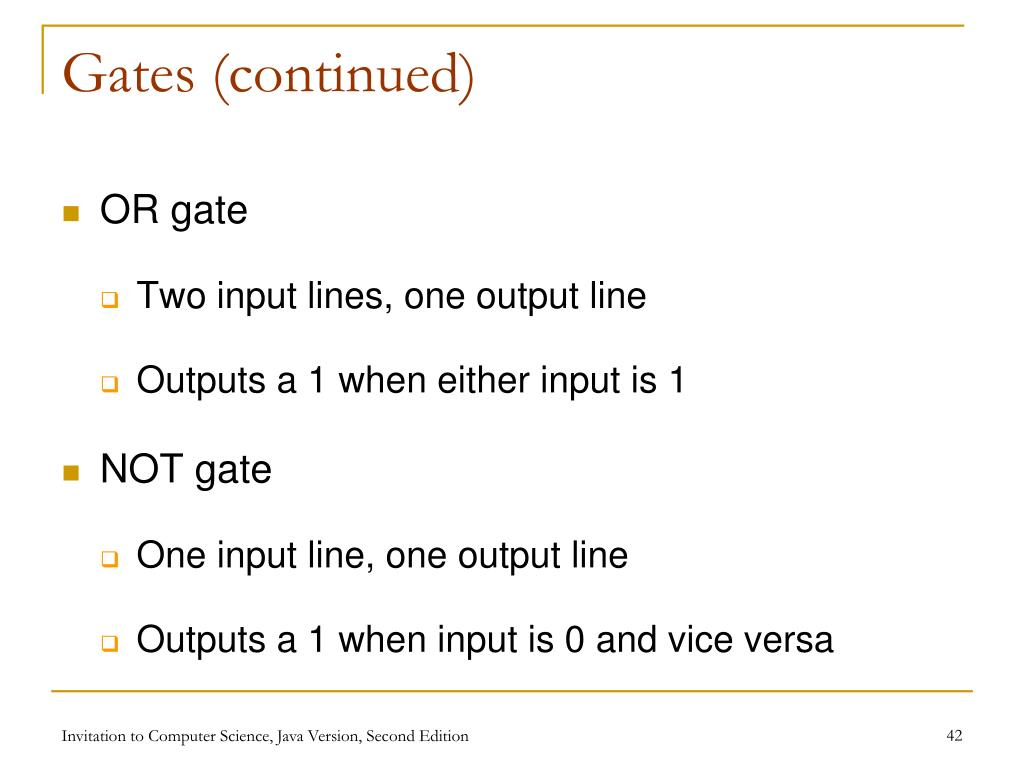 Gates (continued)