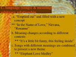 c language songs meanings arbitrary relationship