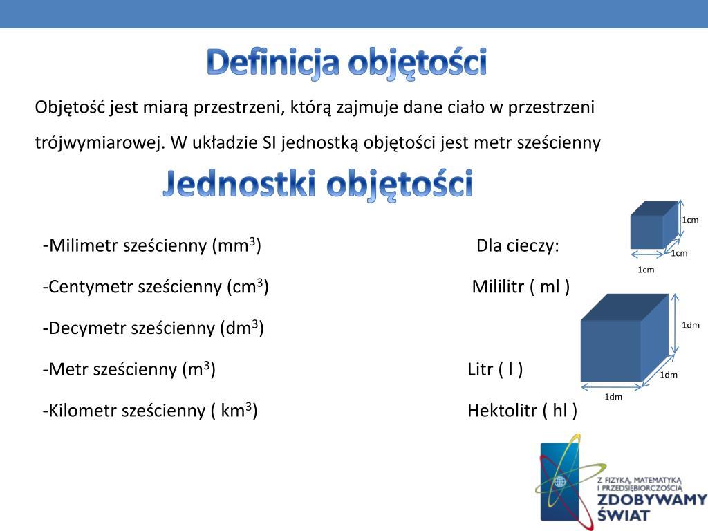 Definicja objętości